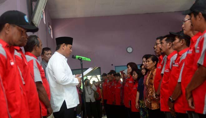 Walikota Kediri Kukuhkan RT dan RW se Kelurahan Dandangan