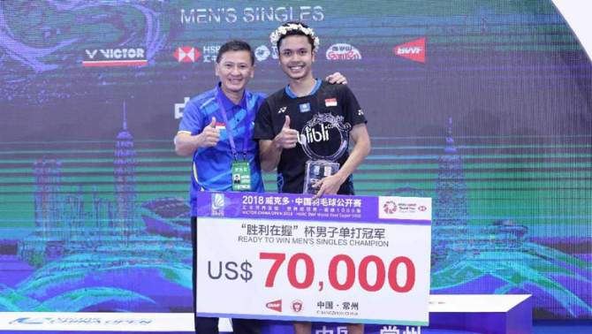 Anthony Ginting Juara China Terbuka